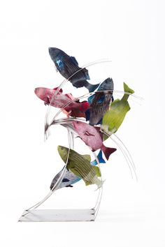 """Four of Anne Stanner's welded sculptures from her """"Wave"""" series will be on view in Scene and Unseen, an exhibition at Iona College (665 North Avenue, New Rochelle, NY) opening February 24. Organized by the New York Society of Women Artists, the show continues through April 3, 2014."""