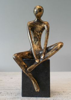Online veilinghuis Catawiki: Erik Willems - Denker abstract bronzen sculptuur