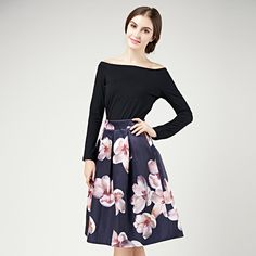 Cheap skirt ballet, Buy Quality skirt capri directly from China vintage import Suppliers: High Quality European Brand NEW Spring Women Floral Print Three-quarter Dress + Belt Knee Length Vintage Dresses Plus Si