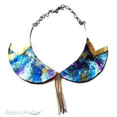 Intergalactic  Galaxy Peter Pan Collar by BeatniqJewelry on Etsy, $35.00