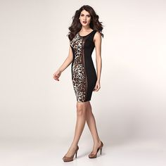 Fashion Sexy Slim Leopard Dresses For Women
