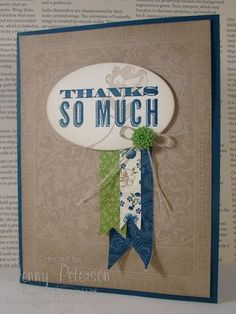 BEAUTIFUL!!! Ex Libris Background from Stampin' Up!