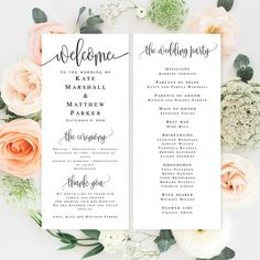 free wedding program templates wedding pinterest wedding