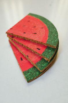 Create this lifelike Painted Watermelon Bowl. Use basic ...