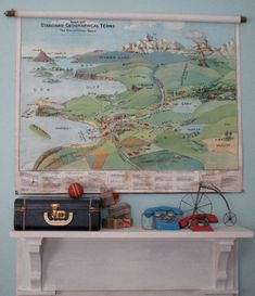 vintage school maps are pretty easy to find
