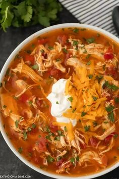 This Instant Pot Chicken Fajita Soup is quick, easy, low carb and keto friendly too. It is full of flavor and a great meal anytime of the year! Everyone loves this healthy pressure cooker chicken fajita soup. It's the best skinny chicken fajita soup recipe! #eatingonadime #instantpotrecipes #souprecipes #chickenrecipes Fajita Soup Recipe, Chicken Fajita Soup, Soup Recipes, Chicken Recipes, Slow Cooker Pressure Cooker, Pressure Cooker Chicken, Skinny Soup Recipe, Skinny Chicken, Fajita Seasoning
