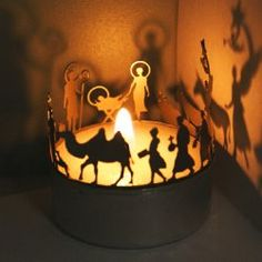 Mini Tea Light Nativity