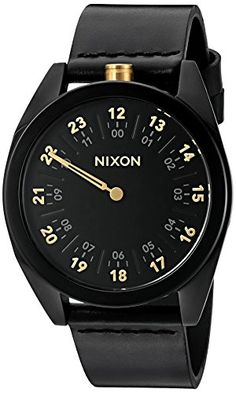 fb491c62961 Amazon.com  Nixon Men s  Genesis  Quartz Stainless Steel and Leather Watch