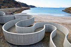 Selvika by Reiulf Ramstad Arkitekter    a concrete study of organic circular organisms. http://www.archello.com/en/project/selvika#