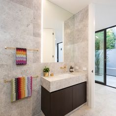 New Savior powder room beautifully designed by Natural Stones, Stone, Limestone, Powder Room, Contemporary, Natural Stone Bathroom, Design Inspiration, Room, Bathroom