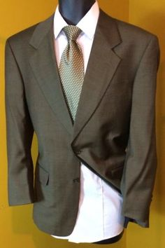 Jones New York Mens Suit Jacket | Luxury Wtd. Cashmere Sport Coat | 38R Free Tie