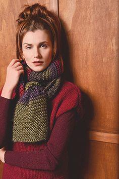 Цветной шарф спицами