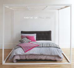 Habitat UK via Happy Mundane-- The frame AROUND the bed is quite interesting...