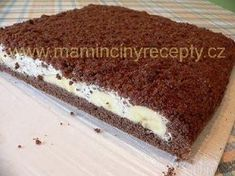 Krtkův dort na plechu Czech Recipes, Ethnic Recipes, Red Velvet Cheesecake, World Recipes, Cake Tutorial, Graham Crackers, Cheesecakes, Nutella, Tiramisu