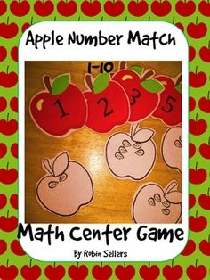 Apple math matching game