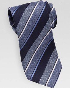 4b487d198631 Joseph Abboud Navy Stripe Narrow Tie - Men's Accessories | Men's Wearhouse
