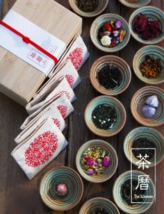 Tea Almanac by teakha: 15 different teas, one for each day of the Chinese New Year. The linen tea pouches can be reused as coasters :) Tea Design, Food Design, Fruit Packaging, Packaging Design, Chinese New Year Design, Biscuits Packaging, Tea Culture, Tea Brands, Chinese Tea