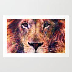Lion Art Print by Maximilian San - $14.00