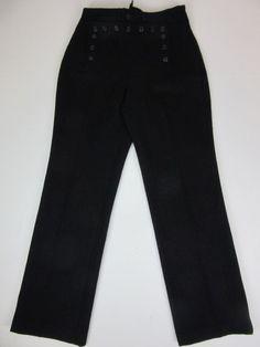 VINTAGE black Navy Sailor Pants/Trousers WOOL Uniform w28  L32