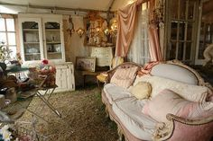 eclectic mix of shabby, cottage ans vintage pieces