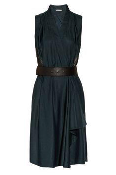 Belted wrap dress in hunter green. What to Wear to a Fall Wedding - 28 Fall Wedding Dress Ideas - Elle