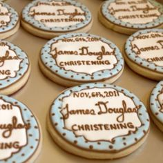 Cookies for a christening