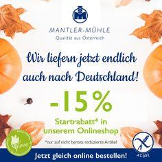 Ab 1.11. liefern wir auch nach Deutschland! Mehr auf: www.mantler-glutenfrei.at!   #glutenfree #glutenfreebaking #glutenfreerecipes #glutenfreecookies #glutenfreebread #glutenfreecake  #glutenfreecakes #glutenfrei #glutenfreibacken #zöliakie Glutenfree Bread, New Coming, Cantaloupe, Fruit, Food, Gluten Free Flour, Germany, Sunday, Essen