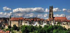 Fribourg and  Fribourg and Cathedral of St. Nicholas