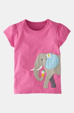 Mini Boden 'Animals Abroad' Tee (Little Girls & Big Girls) Baby Boy Outfits, Kids Outfits, T Shirt Pink, Camo Baby Stuff, Shirt Quilt, Mini Boden, Baby Boy Fashion, Sewing For Kids, Kids Wear