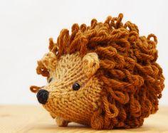 Mario the Hedgehog Knitting Pattern PDF by Yarnigans on Etsy Crochet Hedgehog, Hedgehog Craft, Animal Knitting Patterns, Crochet Patterns, Crochet Yarn, Crochet Toys, Knitting Projects, Crochet Projects, Fabric Crafts