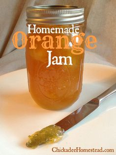 Homemade Orange Jam. Awesome citrus jam recipe to use up oranges. I'm thinking this would be great on top of vanilla ice cream.