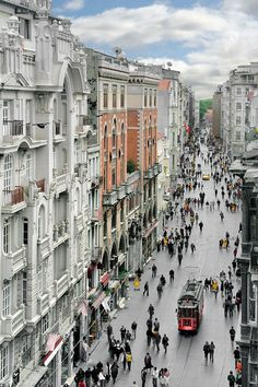 Istiklal Avenue, Istanbul, Turkey. Might hang out here tomorrow :)