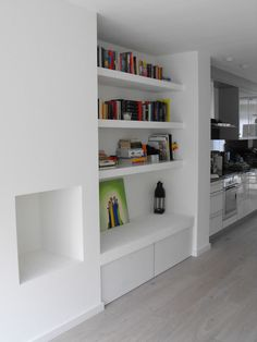 Attic Stairs, Game Room, Home Projects, Floating Shelves, Home Office, Shelving, Bookcase, Dining Room, Lounge