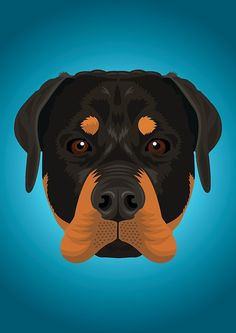 'Rottweiler' Graphic T-Shirt by threeblackdots Intarsia Wood Patterns, Flamingo Art, Dog Logo, Dog Crafts, Diy Canvas Art, Dog Names, Dog Portraits, Dog Art, Art Sketches