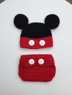 Mickey Mouse Hat Diaper Cover Newborn Announcement by SmileyGoose Sombrero  De Mickey Mouse 257910cb15a