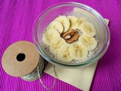 Diós chia puding Chia Puding, Oatmeal, Breakfast, Dios, The Oatmeal, Morning Coffee, Rolled Oats, Overnight Oatmeal