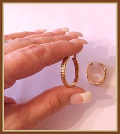 14K Gold Hoop Earrings Lightweight 2 Grams by bettysworld4u