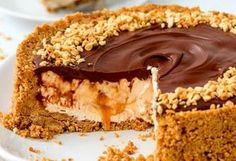 Easy Nutella Salted Caramel Cheesecake 11 Drool-Worthy Salted Caramel Desserts You Need To Eat ASAP Salted Caramel Desserts, Easy No Bake Cheesecake, Salted Caramel Cheesecake, Cheesecake Bites, Cheesecake Recipes, Dessert Recipes, Baking Tins, Baking Recipes, Biscuits