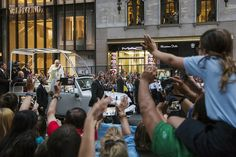 Pope Francis Charms and Comforts New York City - NBC News ~ Pope Francis waves from his vehicle as he is driven down Fifth Avenue on September 324th <3  <3
