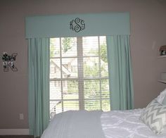 Window Treatments with monogram
