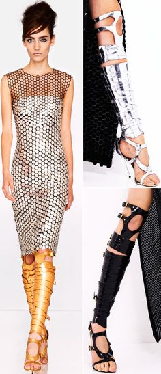 I need the dress!  great gladiator sandals Tom Ford Spring 2013