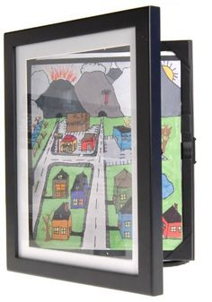 Amazon.com - 8.5x11 Lil Davinci Art Cabinet - Store kid's art pieces in this frame one behind other with the last being displayed-great idea-holds 100 pcs.