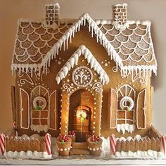 100 Best Gingerbread House Ideas - Prudent Penny Pincher From classic gingerbread houses to easy gingerbread houses, there's plenty of creative gingerbread house decoration ideas for inspiration Homemade Gingerbread House, Cardboard Gingerbread House, Halloween Gingerbread House, Gingerbread House Patterns, Cool Gingerbread Houses, Gingerbread House Parties, Gingerbread Decorations, Gingerbread Cookies, Noel Christmas