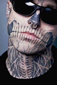 Rick Genest - The Zombie Boy - Tattoos / Piercing / Bodyart / Shades