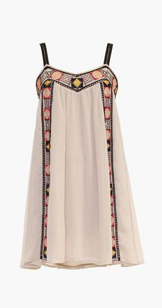 inLUV Oatmeal Boho-Trim Shift Dress