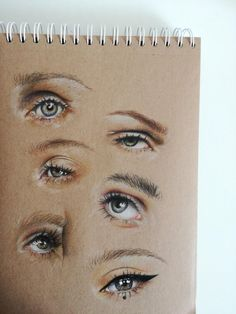 Eye-studies (Faber-Castell Polychromos on brown paper) : dra.- Eye-studies (Faber-Castell Polychromos on brown paper) : drawing Eye-studies (Faber-Castell Polychromos on brown paper) : drawing - Eye Drawing Tutorials, Art Tutorials, Drawing Techniques, Pencil Art Drawings, Art Sketches, Eye Drawings, Horse Drawings, Colores Faber Castell, Eye Study