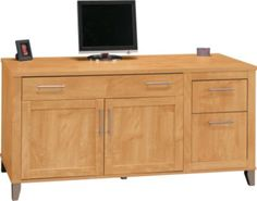 Staples®. has the Bush® Somerset 60'' Credenza, Maple Cross Finish you need for home office or business. FREE Shipping on all orders over $45, plus Rewards Members get 5 percent back on everything!