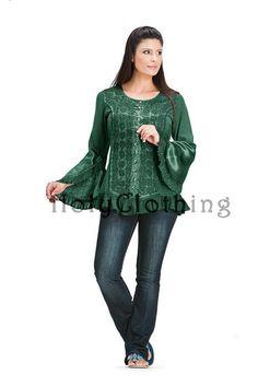 Myrna Poet Sleeve Satin Gothic Corset Bustier Top Shirt Medium - Medium - Shop by Size - Tops Satin Top, Blue Satin, Gothic Corset, Bustier Top, Hippie Outfits, Shirt Shop, Shirt Sleeves, Long Sleeve Tops, What To Wear