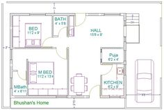 Impressive 30 X 40 House Plans #7 Vastu East Facing House Plans