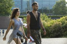 "THE MAGICIANS — ""Consequences of Advanced Spellcasting"" Episode 103 — Pictured: (l-r) Jade Tailor as Kady, Arjun Gupta as Penny — (Photo by: Carole Segal/Syfy)"
